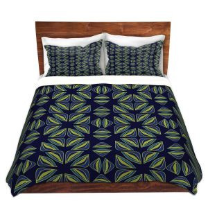 Artistic Duvet Covers and Shams Bedding   Sue Brown - Gervay Garden 7   Pattern flower repetition abstract