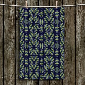 Unique Bathroom Towels | Sue Brown - Gervay Garden 7 | Pattern flower repetition abstract