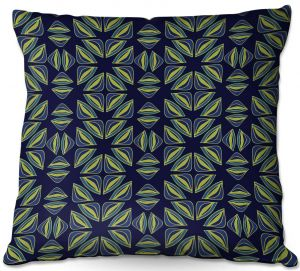 Throw Pillows Decorative Artistic | Sue Brown - Gervay Garden 7 | Pattern flower repetition abstract