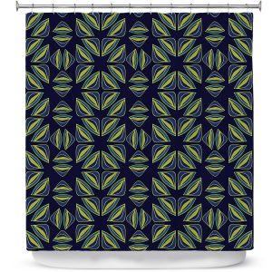 Premium Shower Curtains   Sue Brown - Gervay Garden 7   Pattern flower repetition abstract