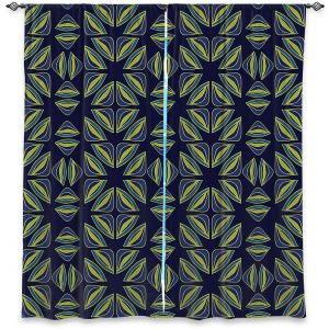 Decorative Window Treatments | Sue Brown - Gervay Garden 7 | Pattern flower repetition abstract