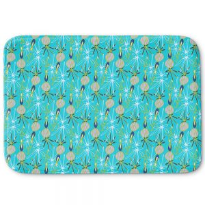 Decorative Bathroom Mats | Sue Brown - Gervay Garden 8 | Pattern flower repetition abstract