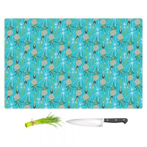 Artistic Kitchen Bar Cutting Boards | Sue Brown - Gervay Garden 8 | Pattern flower repetition abstract