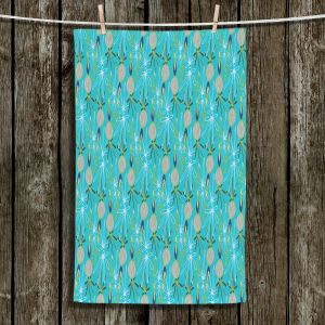 Unique Bathroom Towels | Sue Brown - Gervay Garden 8 | Pattern flower repetition abstract