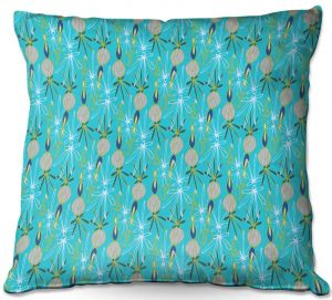 Throw Pillows Decorative Artistic | Sue Brown - Gervay Garden 8 | Pattern flower repetition abstract