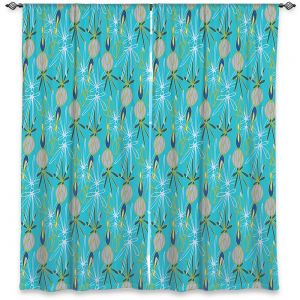 Decorative Window Treatments | Sue Brown - Gervay Garden 8 | Pattern flower repetition abstract