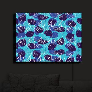 Nightlight Sconce Canvas Light | Sue Brown - Hibiscus Blue | Patterns