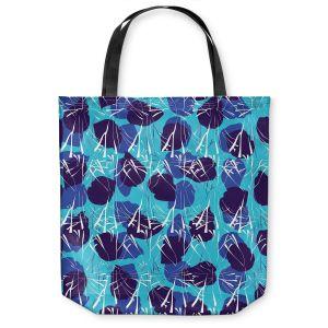 Unique Shoulder Bag Tote Bags | Sue Brown - Hibiscus Blue