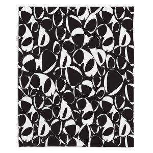 Decorative Fleece Throw Blankets | Sue Brown - Key Rings Black