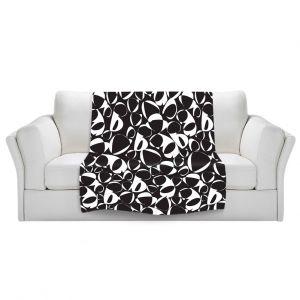 Artistic Sherpa Pile Blankets | Sue Brown - Key Rings Black