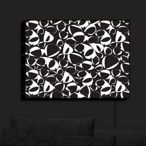 Nightlight Sconce Canvas Light | Sue Brown - Key Rings Black | Patterns