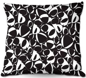 Throw Pillows Decorative Artistic | Sue Brown - Key Rings Black