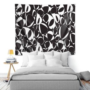 Artistic Wall Tapestry | Sue Brown - Key Rings Black