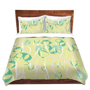 Artistic Duvet Covers and Shams Bedding | Sue Brown - Key Rings Green