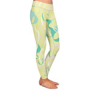 Casual Comfortable Leggings   Sue Brown - Key Rings Green