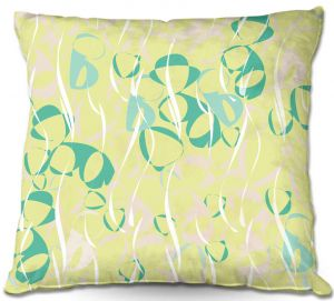 Decorative Outdoor Patio Pillow Cushion   Sue Brown - Key Rings Green