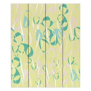 Decorative Wood Plank Wall Art | Sue Brown - Key Rings Green