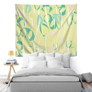 Artistic Wall Tapestry | Sue Brown - Key Rings Green