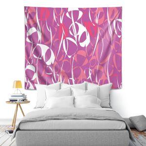 Artistic Wall Tapestry | Sue Brown - Key Rings Pink