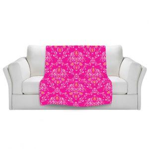 Artistic Sherpa Pile Blankets | Sue Brown - Madam Pink