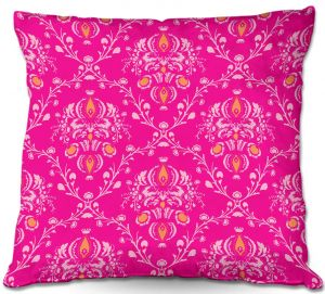 Decorative Outdoor Patio Pillow Cushion | Sue Brown - Madam Pink