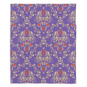 Decorative Fleece Throw Blankets | Sue Brown - Madam Purple