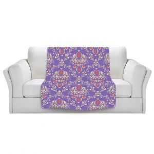 Artistic Sherpa Pile Blankets | Sue Brown - Madam Purple