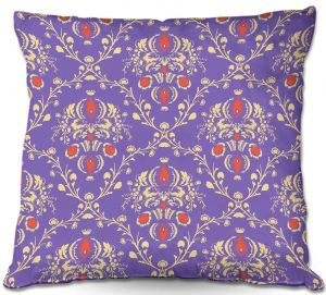 Decorative Outdoor Patio Pillow Cushion | Sue Brown - Madam Purple