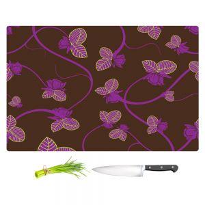 Artistic Kitchen Bar Cutting Boards | Sue Brown - Purple Vine