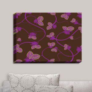 Decorative Canvas Wall Art | Sue Brown - Purple Vine
