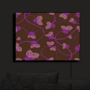 Nightlight Sconce Canvas Light | Sue Brown - Purple Vine | Patterns