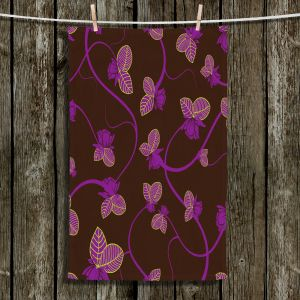 Unique Bathroom Towels | Sue Brown - Purple Vine
