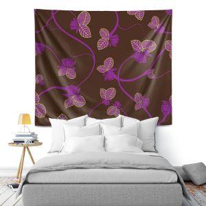 Artistic Wall Tapestry | Sue Brown - Purple Vine