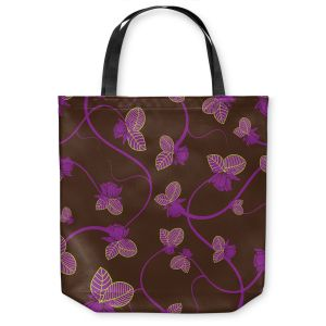 Unique Shoulder Bag Tote Bags   Sue Brown - Purple Vine