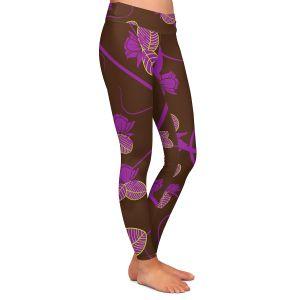 Casual Comfortable Leggings | Sue Brown - Purple Vine