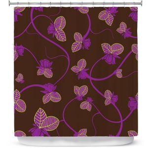 Premium Shower Curtains | Sue Brown - Purple Vine