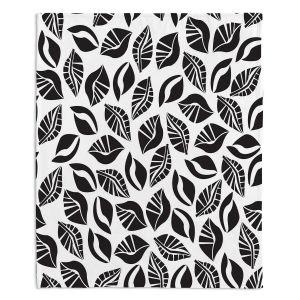 Artistic Sherpa Pile Blankets | Sue Brown - Sponge Leaves
