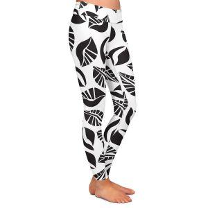 Casual Comfortable Leggings   Sue Brown - Sponge Leaves