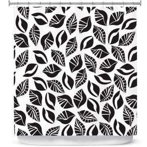 Premium Shower Curtains | Sue Brown - Sponge Leaves