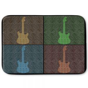 Decorative Bathroom Mats | Susie Kunzelman - 4 Guitars | pop art pattern repetition music