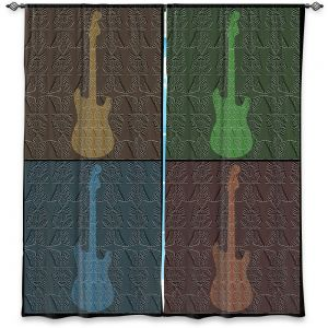 Decorative Window Treatments | Susie Kunzelman - 4 Guitars | pop art pattern repetition music