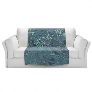 Artistic Sherpa Pile Blankets | Susie Kunzelman - Agate 1 | Abstract pattern