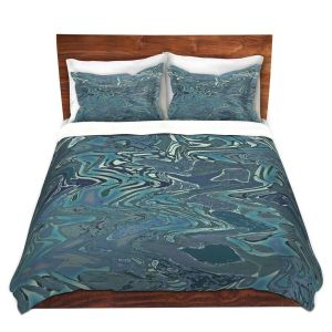 Artistic Duvet Covers and Shams Bedding | Susie Kunzelman - Agate 1 | Abstract pattern