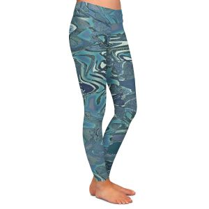 Casual Comfortable Leggings | Susie Kunzelman - Agate 1 | Abstract pattern
