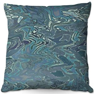 Decorative Outdoor Patio Pillow Cushion | Susie Kunzelman - Agate 1 | Abstract pattern