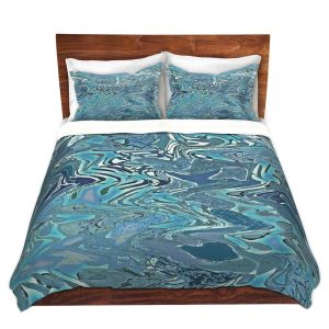 Artistic Duvet Covers and Shams Bedding   Susie Kunzelman - Agate 2   Abstract pattern