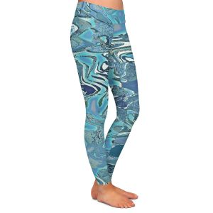 Casual Comfortable Leggings | Susie Kunzelman - Agate 2 | Abstract pattern