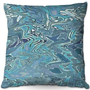 Decorative Outdoor Patio Pillow Cushion | Susie Kunzelman - Agate 2 | Abstract pattern