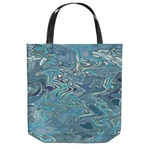 Unique Shoulder Bag Tote Bags | Susie Kunzelman - Agate 2 | Abstract pattern