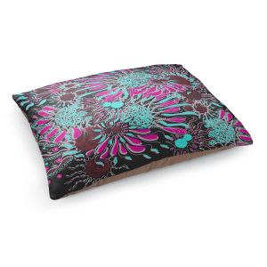 Decorative Dog Pet Beds | Susie Kunzelman - Angel Girl 2 | abstract flower pattern floral